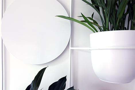 metalowy kwietnik, domowy kwietnik, kwietnik biurowy, kwietnik na korytarz